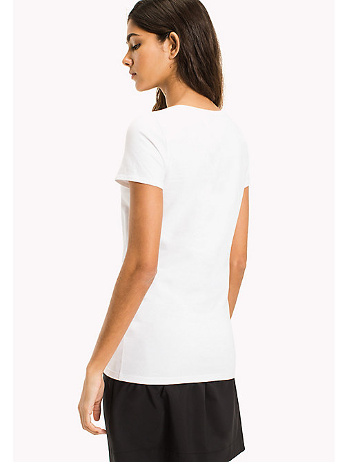 TOMMY JEANS Cotton Stretch Jersey T-Shirt - BRIGHT WHITE - TOMMY JEANS WOMEN - detail image 1