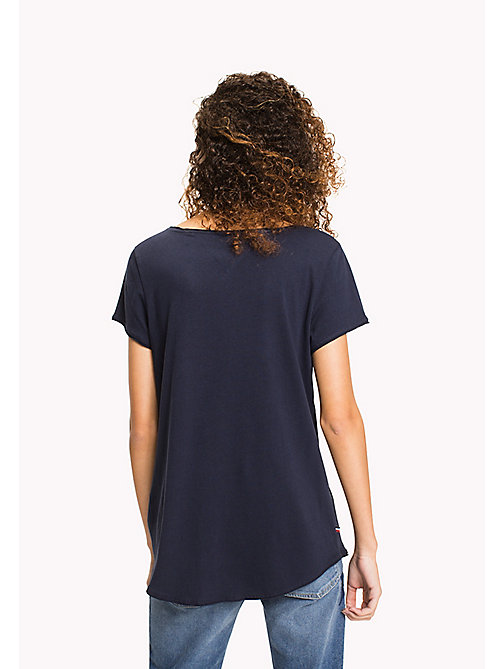 TOMMY JEANS Jersey-T-Shirt aus Bio-Baumwolle - BLACK IRIS - TOMMY JEANS Sustainable Evolution - main image 1