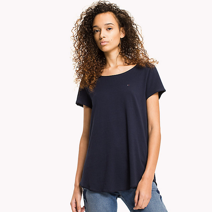 TOMMY JEANS Organic Cotton Jersey T-Shirt - BRIGHT WHITE - TOMMY JEANS Women - main image