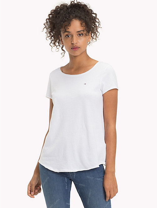 TOMMY JEANS Jersey-T-Shirt aus Bio-Baumwolle - BRIGHT WHITE - TOMMY JEANS Sustainable Evolution - main image