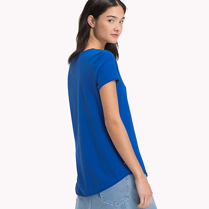TOMMY JEANS Organic Cotton Jersey T-Shirt - SPICED CORAL - TOMMY JEANS Women - detail image 1
