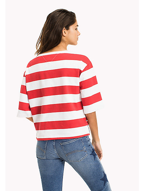 Bold Stripe Boxy T-Shirt - BRIGHT WHITE / SKI PATROL - TOMMY JEANS Clothing - detail image 1