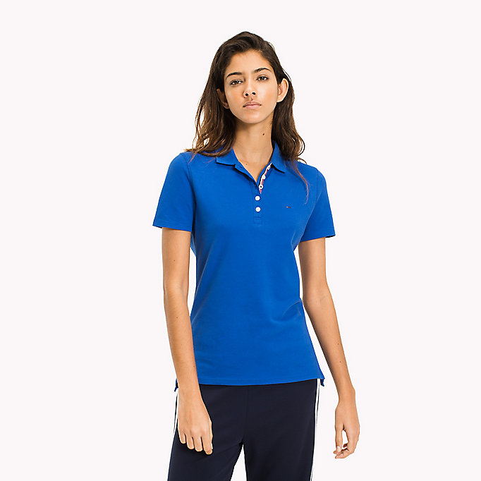 TOMMY JEANS Organic Cotton Stretch Polo - SPICED CORAL - TOMMY JEANS Women - main image