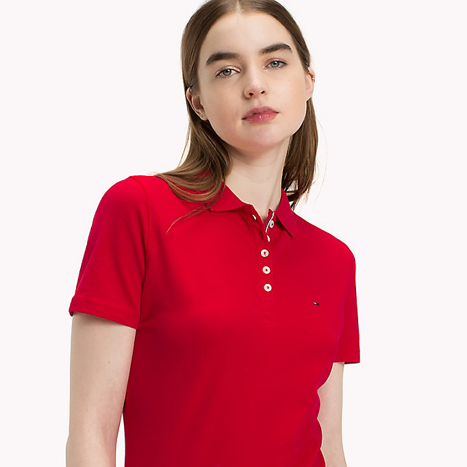 TOMMY JEANS Organic Cotton Stretch Polo - DANDELION - TOMMY JEANS Women - detail image 2