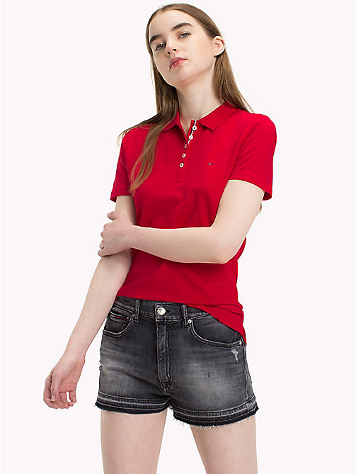 TOMMY JEANS Organic Cotton Stretch Polo - SKI PATROL - TOMMY JEANS Clothing - main image