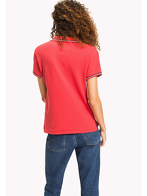 TOMMY JEANS Organic Cotton Stretch Polo - SKI PATROL - TOMMY JEANS WOMEN - detail image 1