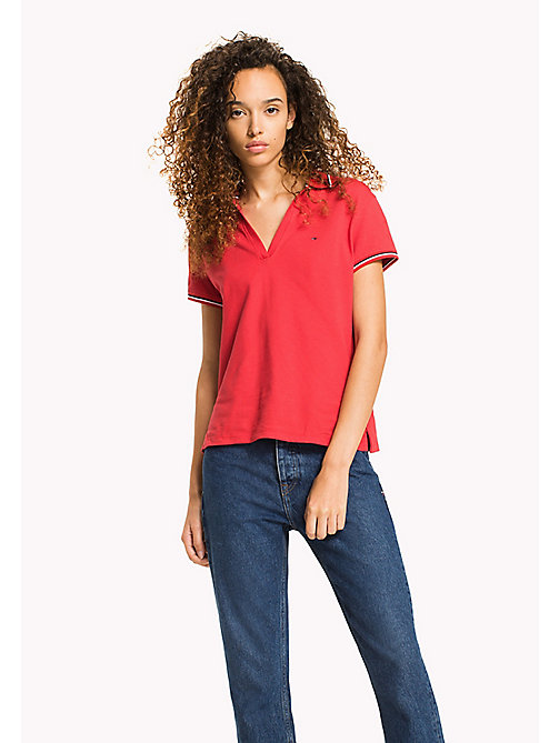 TOMMY JEANS Organic Cotton Stretch Polo - SKI PATROL - TOMMY JEANS WOMEN - main image