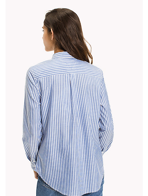 TOMMY JEANS Tencel Blend Stripe Shirt - NAUTICAL BLUE / BRIGHT WHITE - TOMMY JEANS TOMMY JEANS WOMEN - detail image 1