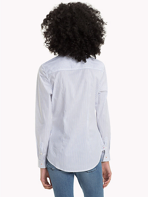 TOMMY JEANS Stripe Slim Fit Shirt - BRIGHT WHITE / SERENITY - TOMMY JEANS Tops - detail image 1