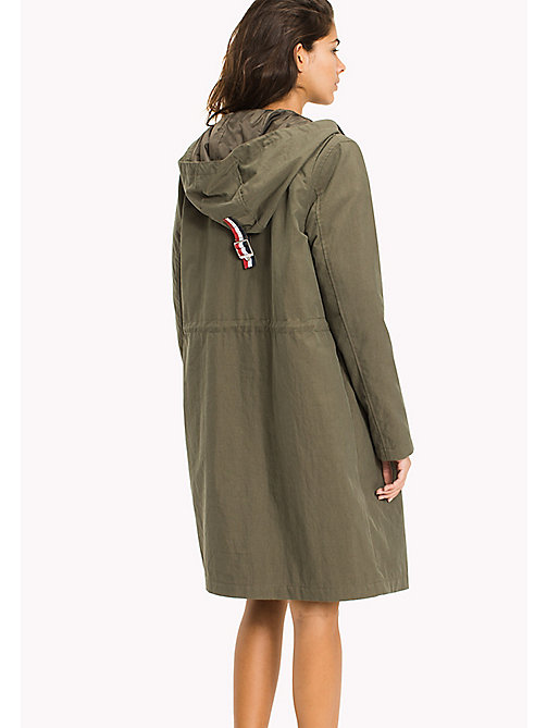 TOMMY JEANS Cotton Blend Twill Parka - GRAPE LEAF - TOMMY JEANS Women - detail image 1