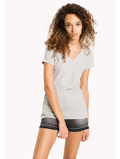 TOMMY JEANS Regular Fit T-Shirt - LIGHT GREY HTR - TOMMY JEANS TOMMY JEANS WOMEN - main image