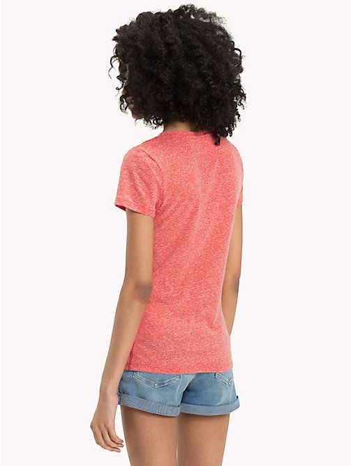 TOMMY JEANS Regular Fit T-Shirt - SPICED CORAL - TOMMY JEANS Oberteile - main image 1
