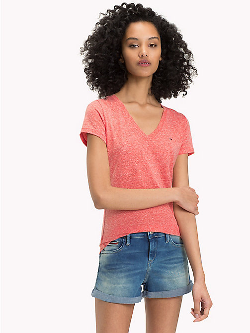 TOMMY JEANS Regular Fit T-Shirt - SPICED CORAL - TOMMY JEANS Oberteile - main image