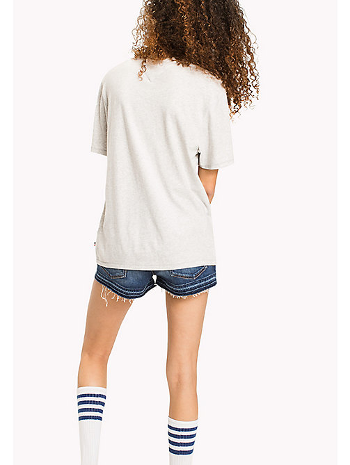 TOMMY JEANS Pure Cotton Boyfriend T-Shirt - LIGHT GREY HTR - TOMMY JEANS MUJERES - imagen detallada 1