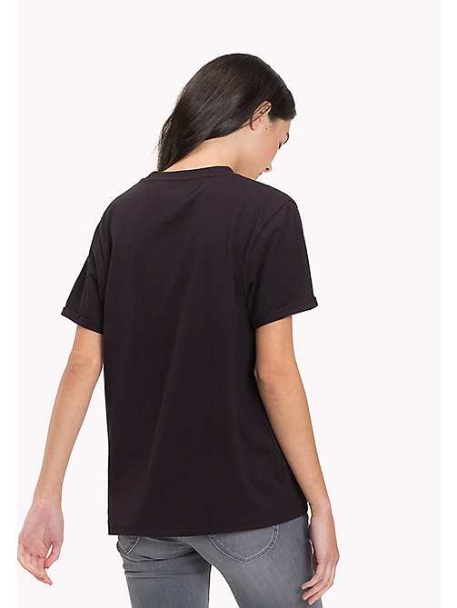 TOMMY JEANS Pure Cotton Boyfriend T-Shirt - TOMMY BLACK - TOMMY JEANS WOMEN - detail image 1