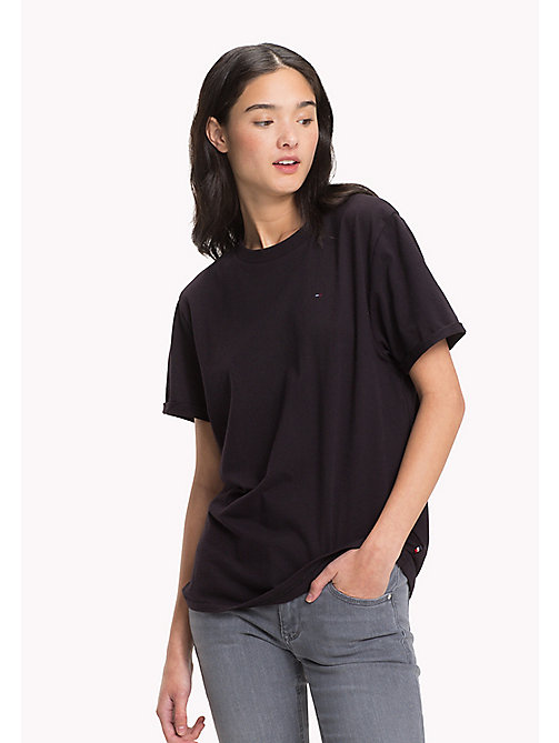 TOMMY JEANS Pure Cotton Boyfriend T-Shirt - TOMMY BLACK - TOMMY JEANS WOMEN - main image
