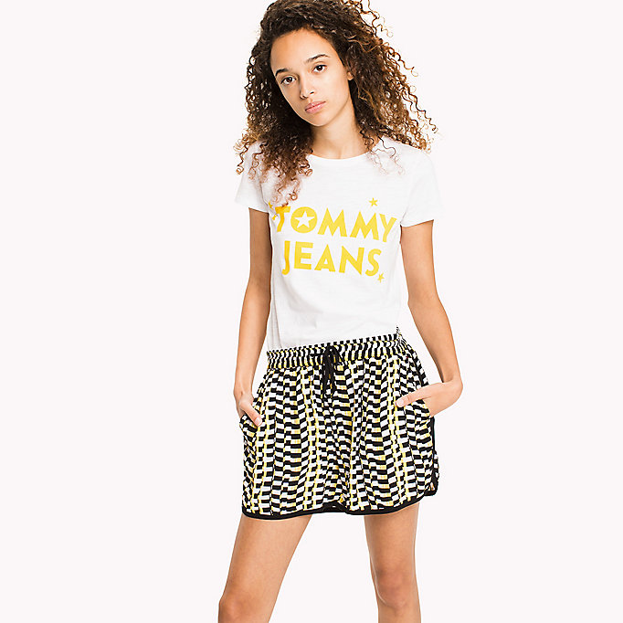 TOMMY JEANS Organic Cotton Logo T-Shirt - TOMMY BLACK - TOMMY JEANS Women - main image