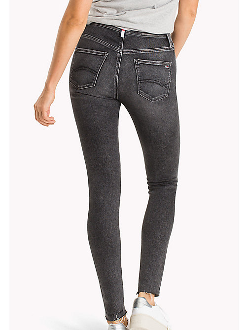 TOMMY JEANS Santana High Rise Skinny Fit Jeans - DRAM BLACK STR. - TOMMY JEANS Test 12 - detail image 1