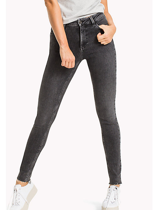TOMMY JEANS Santana High Rise Skinny Fit Jeans - DRAM BLACK STR. - TOMMY JEANS Test 12 - main image
