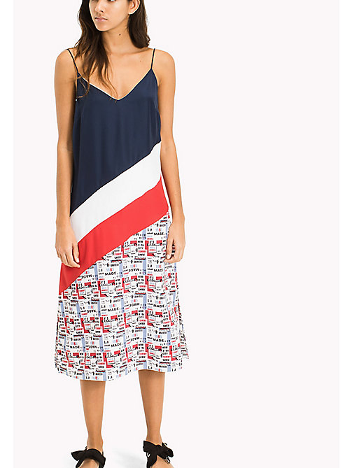 TOMMY JEANS Colour-Blocked Midi Dress - RACING PRINT - TOMMY JEANS Clothing - main image