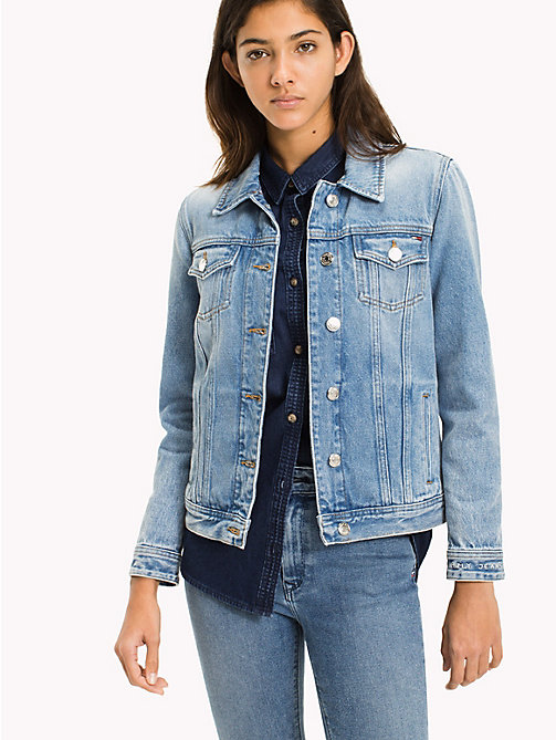 TOMMY JEANS Regular Denim Trucker Jacket - TOMMY JEANS LIGHT BLUE RIGID - TOMMY JEANS WOMEN - main image