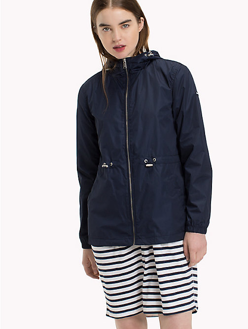 TOMMY JEANS Hooded Windbreaker - BLACK IRIS - TOMMY JEANS Clothing - main image