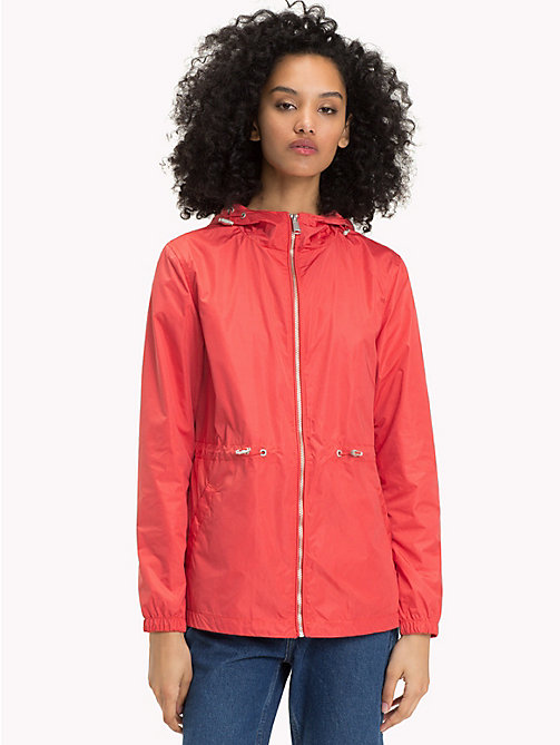 TOMMY JEANS Hooded Windbreaker - SPICED CORAL - TOMMY JEANS Women - main image