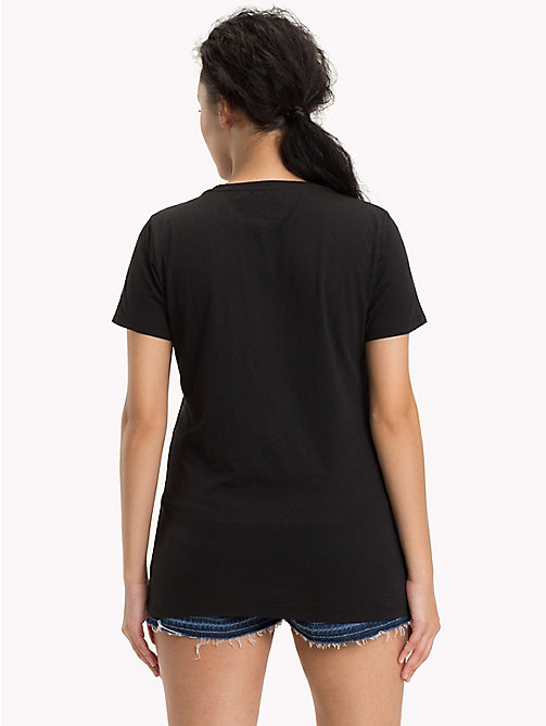 TOMMY JEANS T-Shirt aus Bio-Baumwoll-Mix - BLACK BEAUTY - TOMMY JEANS Sustainable Evolution - main image 1