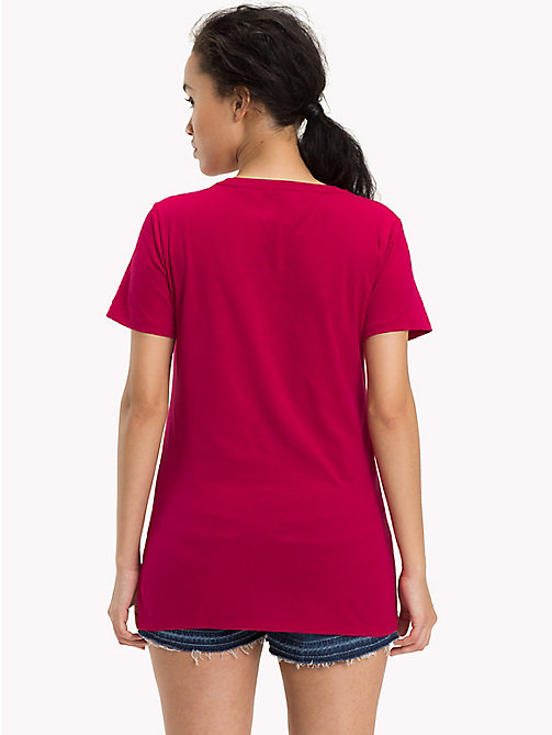 TOMMY JEANS T-Shirt aus Bio-Baumwoll-Mix - PERSIAN RED - TOMMY JEANS Sustainable Evolution - main image 1