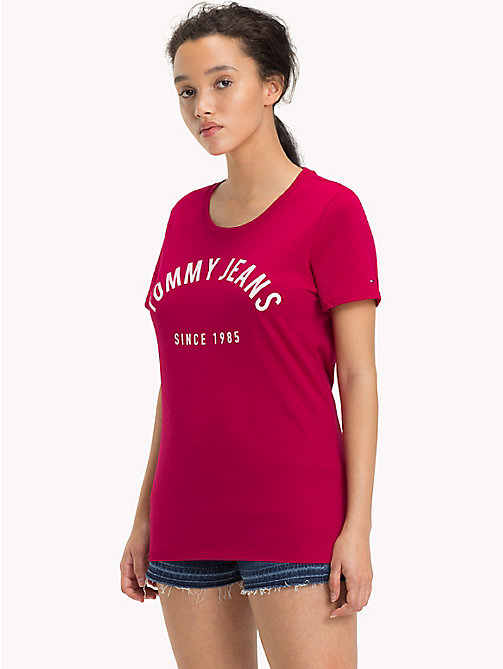 TOMMY JEANS T-Shirt aus Bio-Baumwoll-Mix - PERSIAN RED - TOMMY JEANS Sustainable Evolution - main image