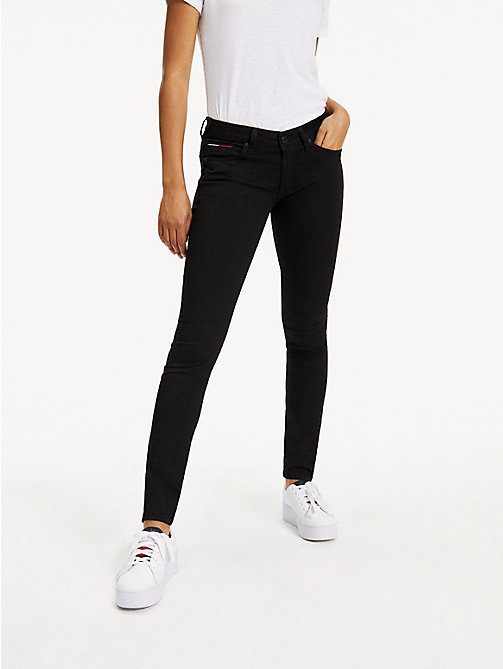 TOMMY JEANS Low Rise Skinny Fit Jeans - DANA BLACK STRETCH - TOMMY JEANS Basics - main image