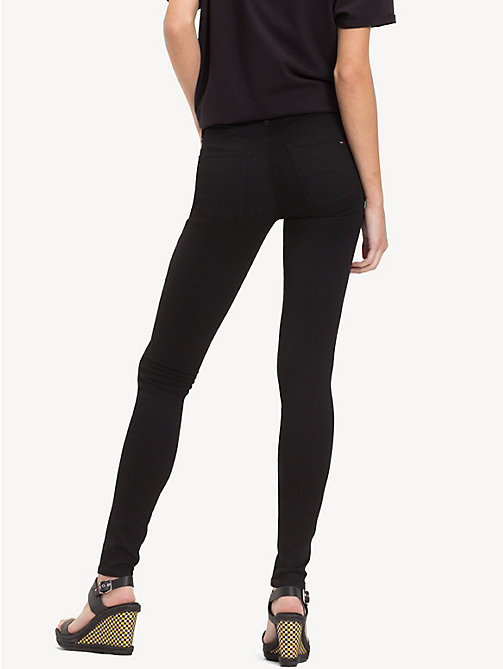 TOMMY JEANS Mid Rise Skinny Fit Stretch Jeans - DANA BLACK STRETCH - TOMMY JEANS Women - detail image 1