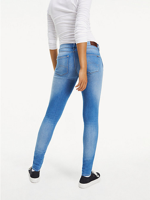 TOMMY JEANS Faded Mid Rise Stretch Jeans - SANTA CRUZ STRETCH - TOMMY JEANS Skinny Jeans - detail image 1