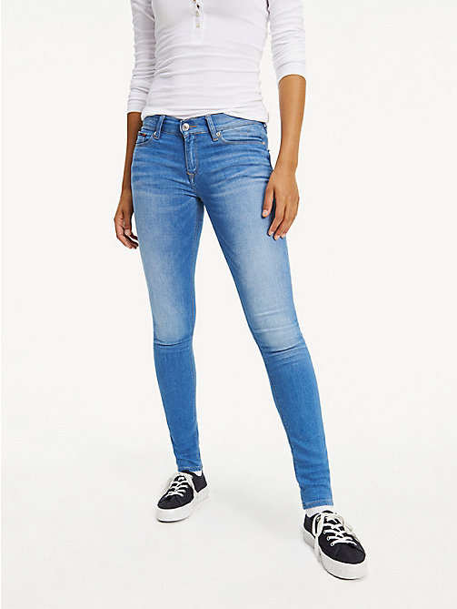 TOMMY JEANS Faded Mid Rise Stretch Jeans - SANTA CRUZ STRETCH - TOMMY JEANS Women - main image