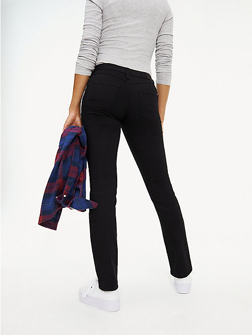 TOMMY JEANS Straight Fit Jeans - DANA BLACK STRETCH - TOMMY JEANS Basics - main image 1