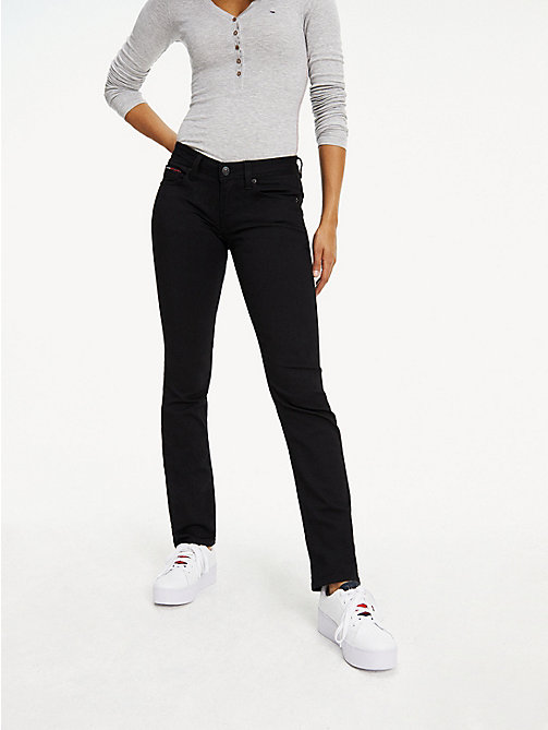 TOMMY JEANS Straight Fit Jeans - DANA BLACK STRETCH - TOMMY JEANS Basics - main image