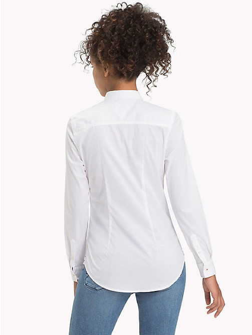 TOMMY JEANS Stretch Cotton Regular Fit Shirt - CLASSIC WHITE - TOMMY JEANS Tops - detail image 1
