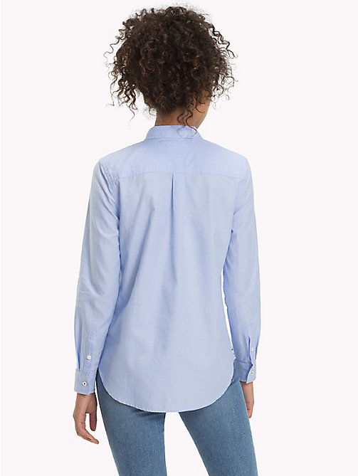 TOMMY JEANS Pure Cotton Oxford Shirt - SERENITY - TOMMY JEANS Tops - detail image 1