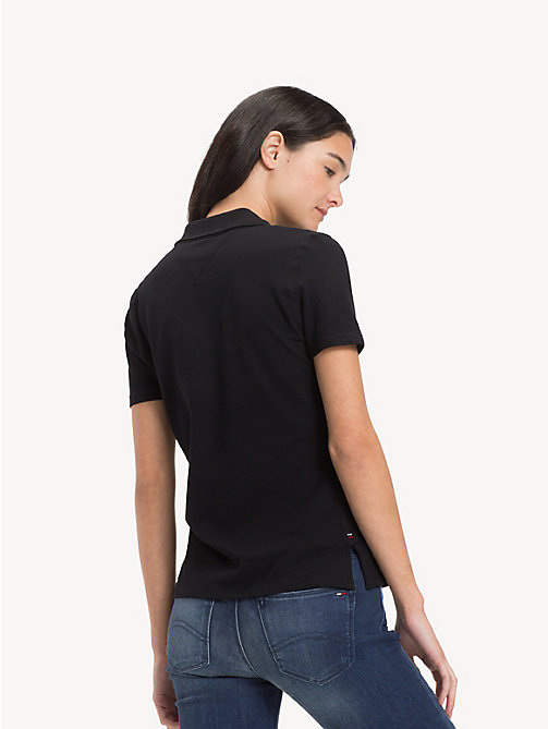 TOMMY JEANS Essential Organic Cotton Polo Shirt - TOMMY BLACK - TOMMY JEANS Tops - detail image 1