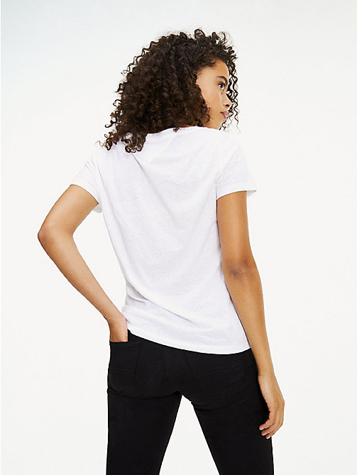 TOMMY JEANS Crew Neck T-Shirt - CLASSIC WHITE - TOMMY JEANS Tops - detail image 1