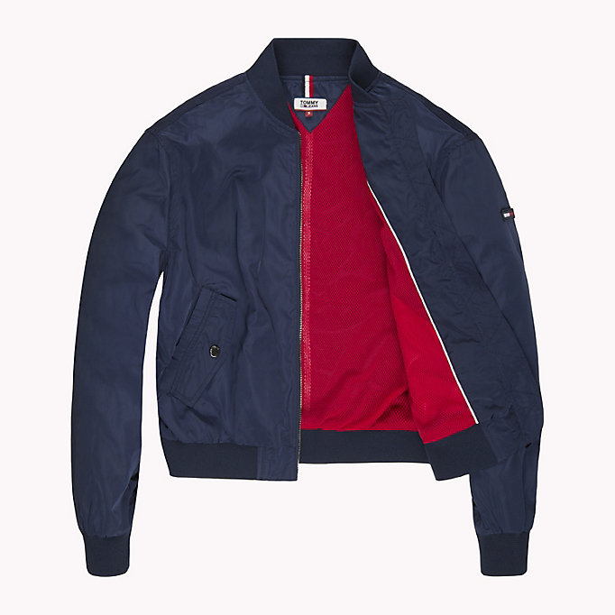 TOMMY JEANS Klassische Bomberjacke aus Polyester - TOMMY BLACK - TOMMY JEANS Kleidung - main image 4
