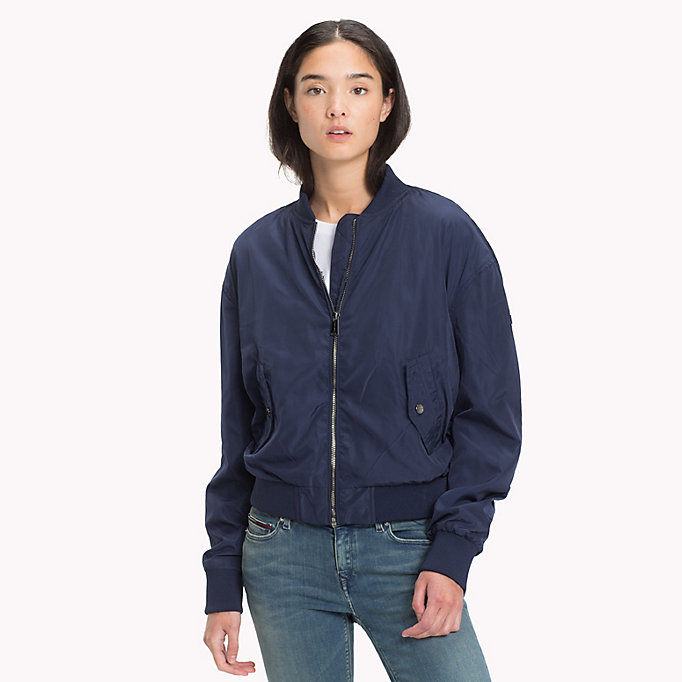 TOMMY JEANS Bomber classique en polyester - TOMMY BLACK - TOMMY JEANS Femmes - image principale