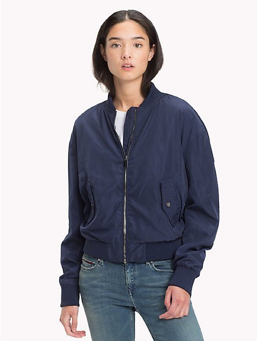 TOMMY JEANS Polyester Classic Bomber - BLACK IRIS - TOMMY JEANS Coats & Jackets - main image