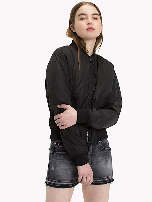 TOMMY JEANS Polyester Classic Bomber - TOMMY BLACK - TOMMY JEANS Coats & Jackets - main image