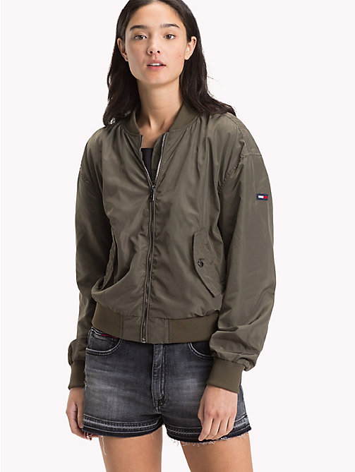 TOMMY JEANS Polyester Classic Bomber - GRAPE LEAF - TOMMY JEANS Coats & Jackets - main image