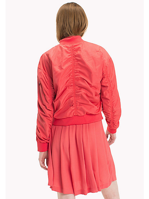 TOMMY JEANS Polyester Classic Bomber - SPICED CORAL - TOMMY JEANS Coats & Jackets - detail image 1