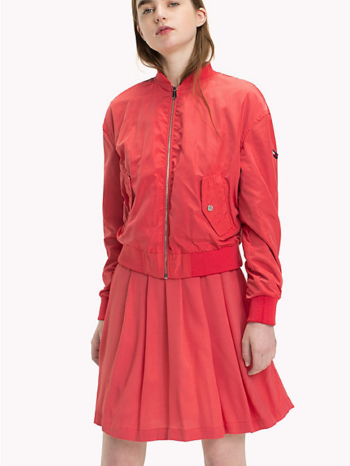 TOMMY JEANS Polyester Classic Bomber - SPICED CORAL - TOMMY JEANS Coats & Jackets - main image