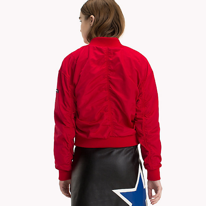 TOMMY JEANS Klassische Bomberjacke aus Polyester - SPICED CORAL - TOMMY JEANS Kleidung - main image 1