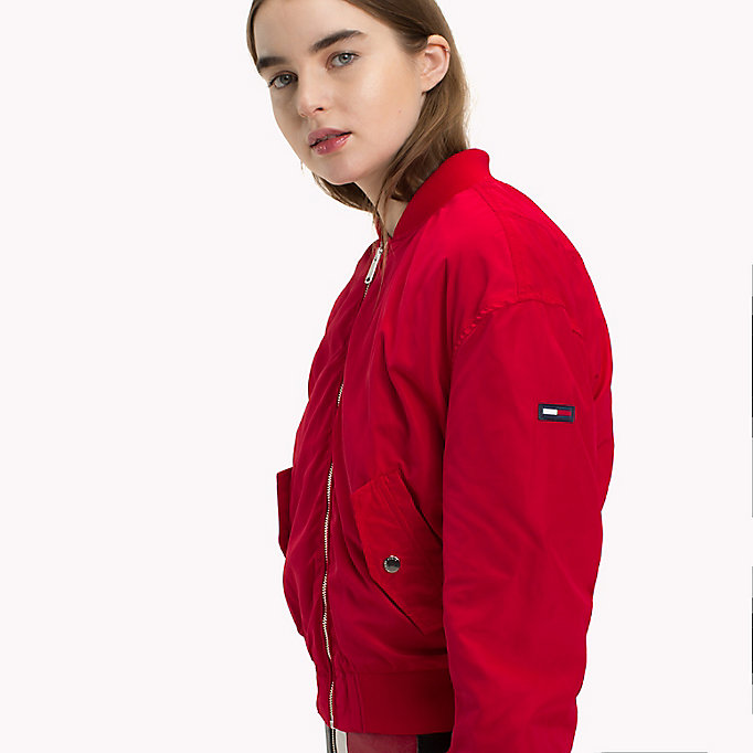 TOMMY JEANS Klassische Bomberjacke aus Polyester - SPICED CORAL - TOMMY JEANS Kleidung - main image 3
