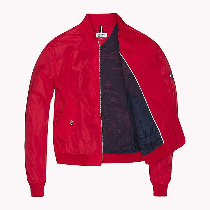 TOMMY JEANS Klassische Bomberjacke aus Polyester - SPICED CORAL - TOMMY JEANS Kleidung - main image 4